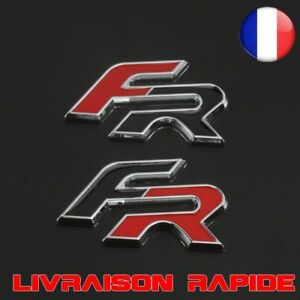 3D-FR-Logo-Metal-Voiture-Side-Fender-Autocollants-Embleme-Seat-Leon-FR-Cupra
