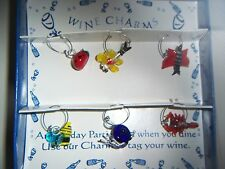 When You Dine Tag your Wine Glass Insect Wine Charm Set
