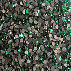 1000-Strass-thermocollants-Taille-s-06-2-mm-Coloris-n-118-VERT-EMERAUDE