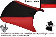 Negro Y Rojo Custom Fits Yamaha Tzr 125 Rr Frontal De Cuero Funda De Asiento