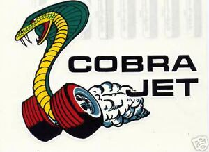 1960 S Ford Cobra Jet Snake On Wheels Decal Ebay