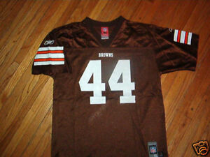 vtg CLEVELAND BROWNS LEE SUGGS 44 JERSEY Football Reebok YOUTH XL ...