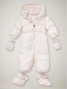 9888a55a6 Baby Gap Warmest Puffer Snow Suit  Snowsuit in Ivory Frost 0-6 mo ...