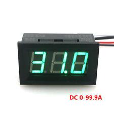 """Digital Ammeter DC 100A 12V 24V With Green LED Ampere Current Panel Meter 0.56"""""""