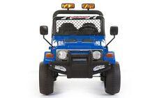 Auto Macchina Elettrica Per Bambini JEEP Safari Telecomandata 12V Blu con Luci
