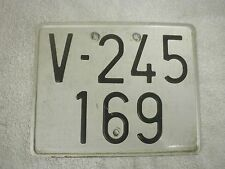 SPAIN VALENCIA LAMBRETTA VESPA MOPED MOTORCYCLE 1970s # V-245 169 LICENSE PLATE