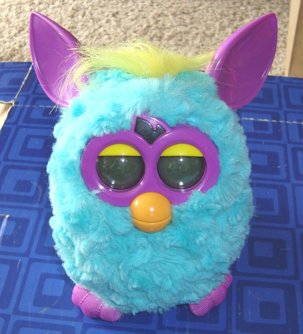 FURBY  Interactive Purple,blueeYellow Plush Pet Toy Hasbro Electronic Digital