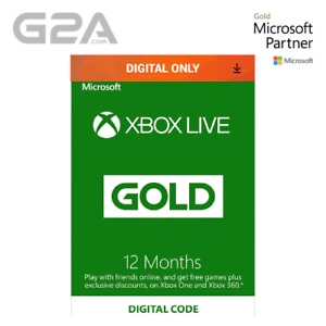 Details about Xbox Live 12 Month Gold Membership Code - Microsoft Xbox One/  360 Digital Key UK