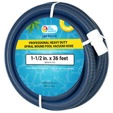 Swimming Pool Vacuum Hose 36 Foot Professional Heavy Duty Spiral Wound