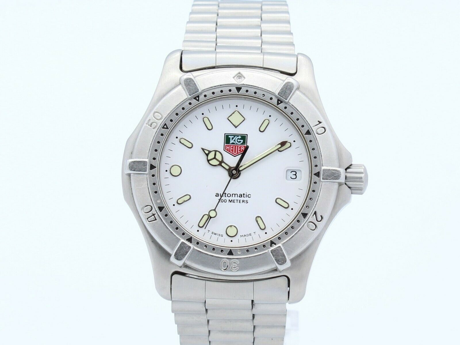 TAG HEUER 2000 SERIES AUTOMATIC STEEL WHITE DIAL MEN'S REF.669.706F