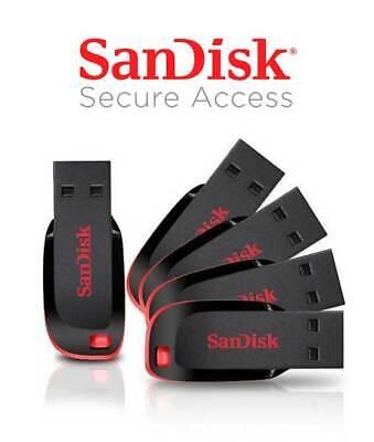 NEW SanDisk 8GB 16GB 32GB 64GB USB 2.0 Flash Drive Cruzer Blade Pen USB