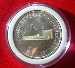 1974-Proof-Philippine-25th-Anniversary-BSP-25-pesos-Silver-coin