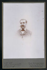CDV Photographe Arts J. ARGENCE rue Sébastopol PERPIGNAN Carte Cabinet vers 1900