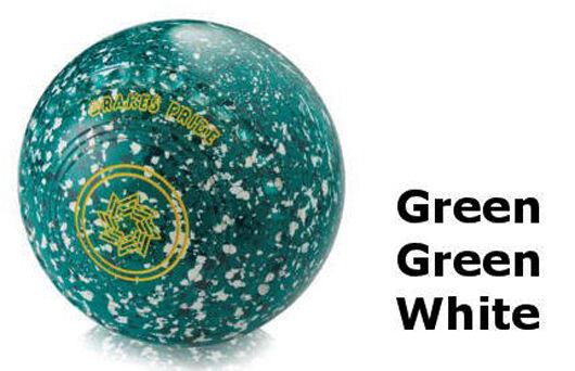 DRAKES PRIDE D-TECH FLAT GREEN PROFESSIONAL GREEN, GREEN & WHITE BOWLS  B3248C