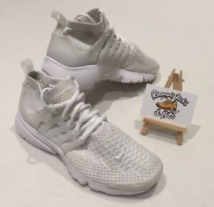 Nike Air Presto Hi Top Ultra Flyknit Triple White Running Trainers