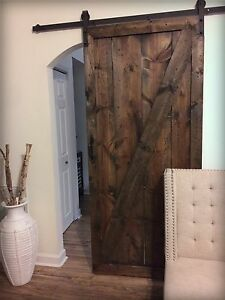 Image Is Loading Rustic Barn Door With Sliding Track And Hardware