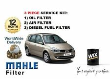 FOR RENAULT GRAND SCENIC 1.9 DCi  02/2004-  OIL AIR FUEL  FILTER SERVICE KIT