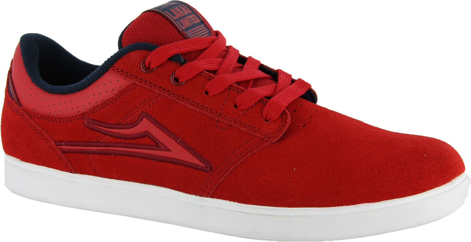 LAKAI Shoes Linden red suede rot Skate BMX NEUWARE 42/42,5/44/44,5/45 SALE