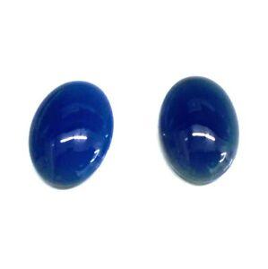 Systematisch Achat Edelstein Blau Cabochon Oval 18x25 Mm2 Stücke 42 Cts AusgewäHltes Material