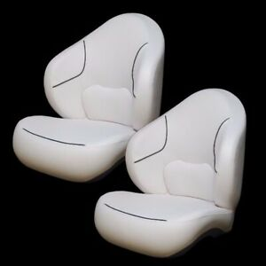 Captain Boat Seats >> Details About Sea Doo White Charcoal Boat Bucket Captain Drivers Seating Seats Pair