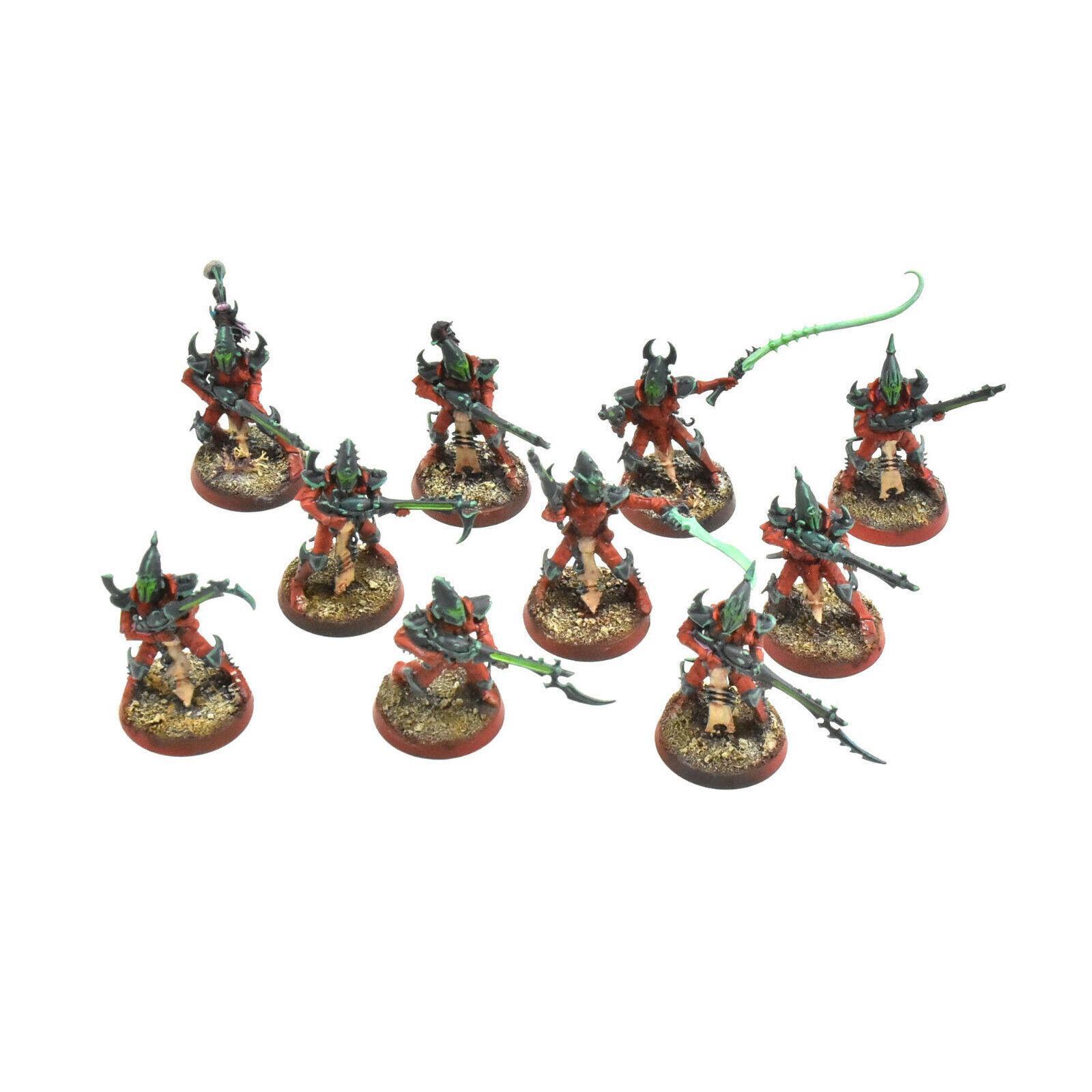 exclusivo Drukhari 10 Kabalite guerreros  3 BIEN PINTADOS WARHAMMER 40K 40K 40K eldar oscuro  A la venta con descuento del 70%.