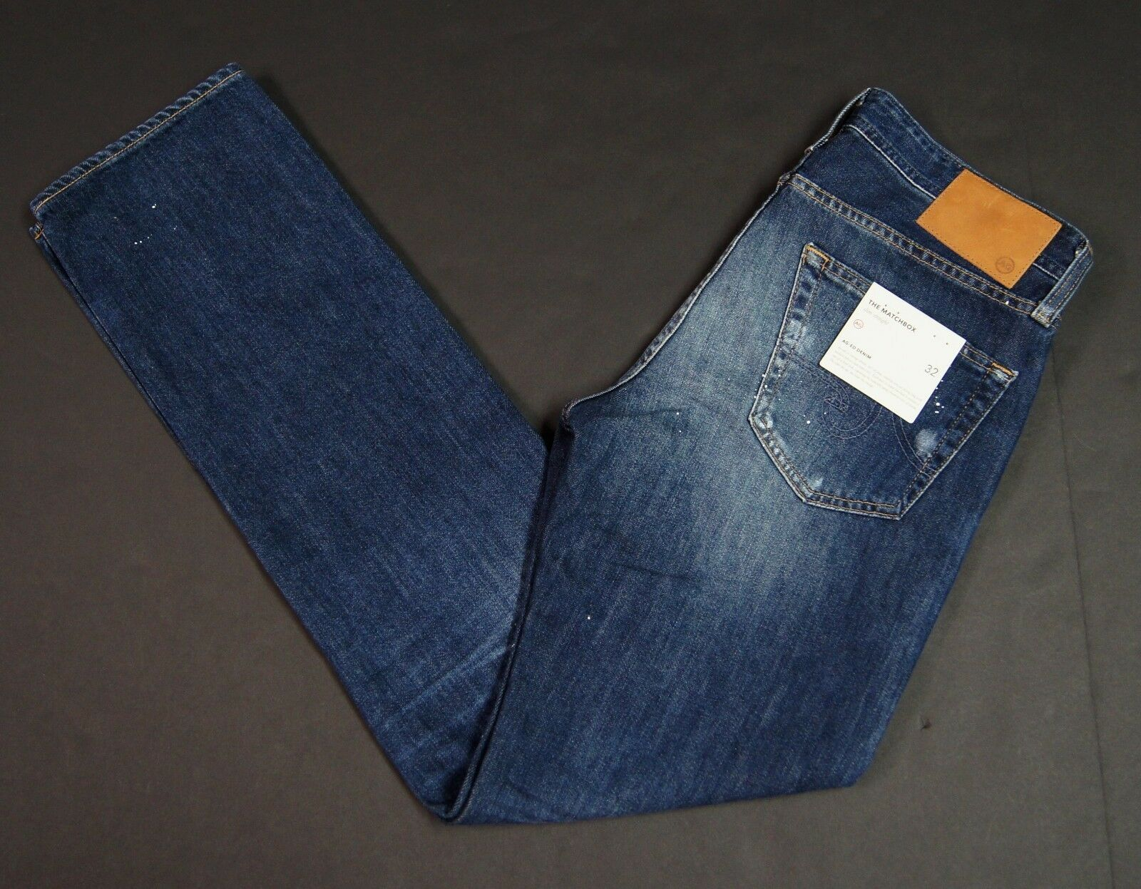 4f365f32 ADRIANO goldSCHMIED The Matchbox Slim Straight Distressed Jeans NEW NWT