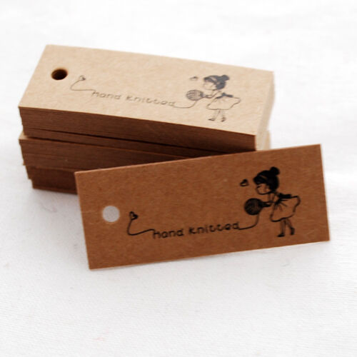 50 Kraft Paper Knitting Tag Hand Knitted Gift Tag