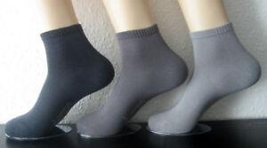 e28029729be67e Details zu 3 Paar Herren RS Bambus Sneaker Kurzsocken weicher Softrand 3  Grau Töne 39 - 46