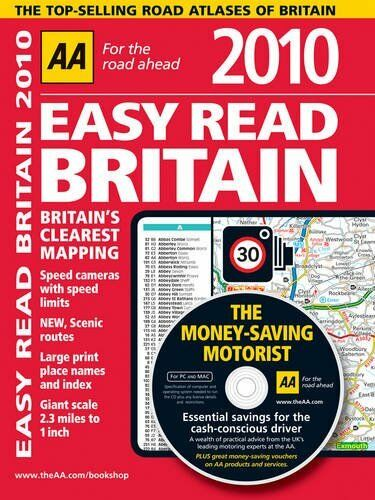 AA Easy Read Atlas Britain 2010 (AA Atlases and Maps) By AA Publishing