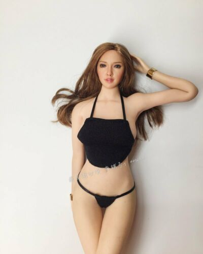 """Black 1:6 Scale Figure Clothes Stomachers For 12/"""" Phicen Female Body Doll Toy"""