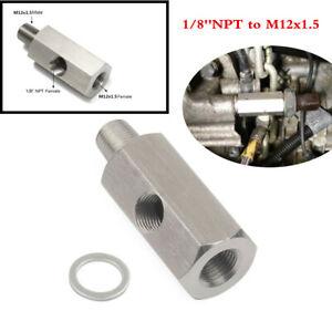 "Oil Pressure Sensor Tee to NPT Adapter Turbo 1//8/"" To M12X1.5"