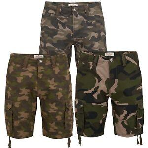Para-hombres-Ejercito-Camo-Pantalones-Cortos-Camuflados-Semental-Camuflaje-Casual-de-Algodon