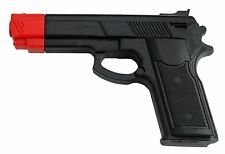 """7"""" BLACK RUBBER TRAINING GUN Police Dummy Non Firing Real Look and Feel Red Head"""