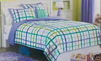 Circo Plaid 3 Pc Full/queen Quilt Sham Bed Set Girls Purple Green