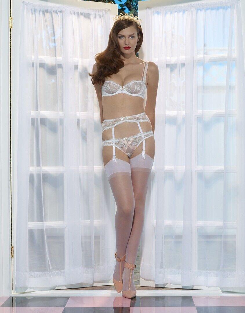 Gorgeous Agent Provocateur Maddy Suspender Garter Belt Size 4 NWT