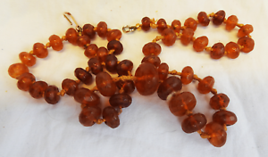 Antique Victorian Hand Cut Faceted Amber Bead Necklace - builth wells, Powys, United Kingdom - Antique Victorian Hand Cut Faceted Amber Bead Necklace - builth wells, Powys, United Kingdom