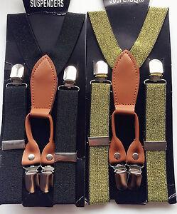 Boy-Girl-Child-Sparkle-Glitter-Clip-Party-Wedding-Elastic-Brace-Suspender-Belt
