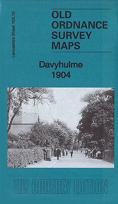OLD ORDNANCE SURVEY MAP WORSLEY 1904 MANCHESTER HAZELHURST DEANE MOORSIDE