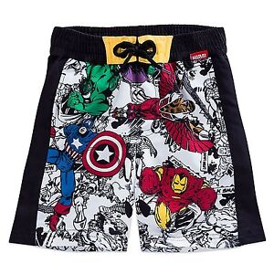 66412c29cc Disney Store Marvel The Avengers Swim Trunks Shorts Boy Size 5/6 | eBay