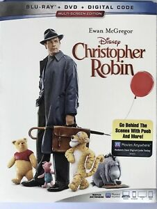 DISNEY-CHRISTOPHER-ROBIN-BLU-RAY-DVD-DIGITAL-W-SLIPCOVER-NEW
