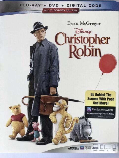 DISNEY CHRISTOPHER ROBIN(BLU+RAY+DVD+DIGITAL)W/SLIPCOVER NEW