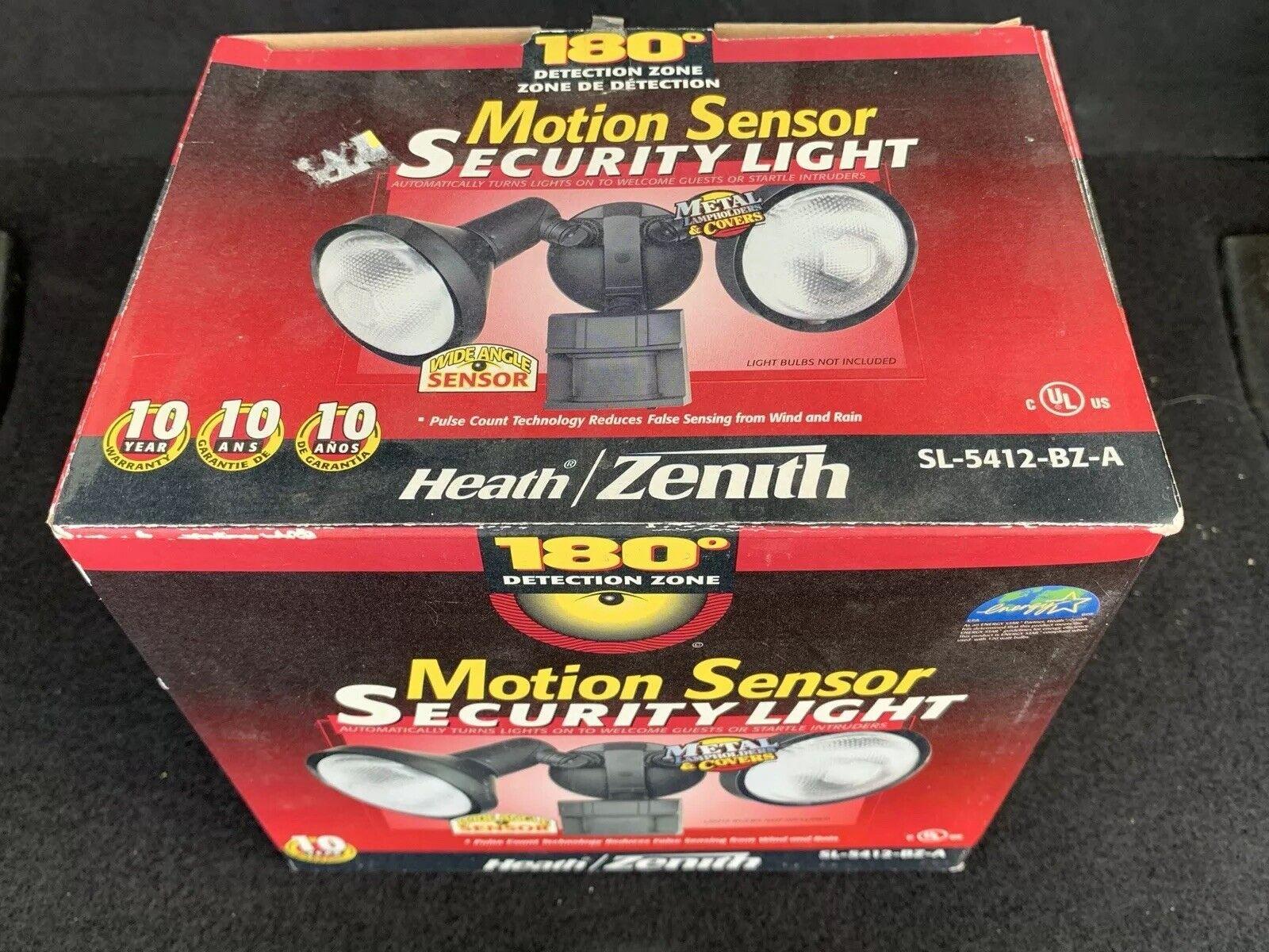 Heath Zenith 150 Degree Security Motion Sensor Light Sl 5406 Wh White For Sale Ebay