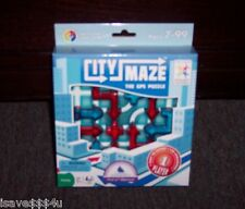 NEW SMART GAMES CITY MAZE THE GPS PUZZLE MULTI-LEVEL IQ LOGIC GAME EZ TO EXPERT