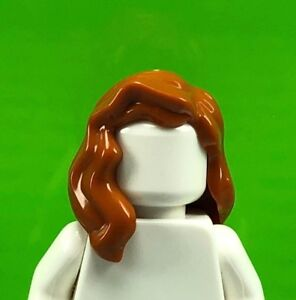 Lego Minifig Black Hair x 1 Female Mid-Length Wavy with Center Part