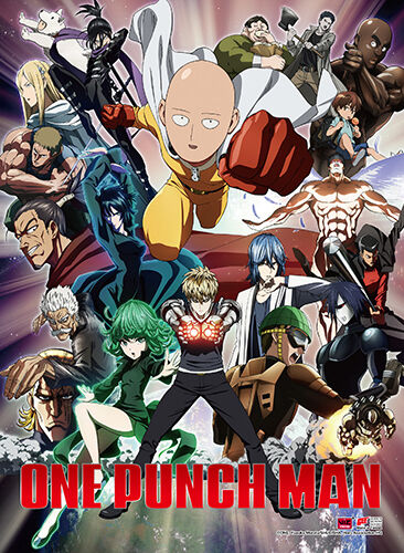 One Punch Man Group High Quality Wall Scroll Poster Anime Manga NEW