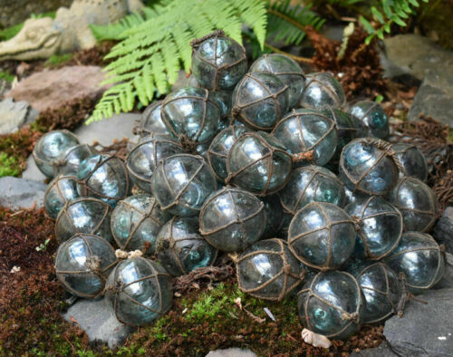 """Lot of 50 /""""Grubby/"""" Vintage Japanese Glass Fishing Floats FREE SHIPPING"""