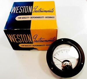 New Old Stock (c. 1934) Weston Instruments Model 301 Type-5 DC Volt Meter