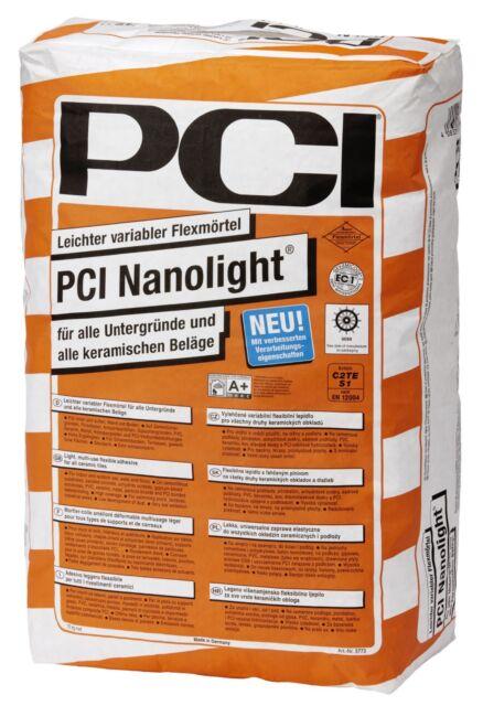 PCI Nanolight 15kg Ligero Pegamento para Azulejos Todos Sustratos Pared y Suelo