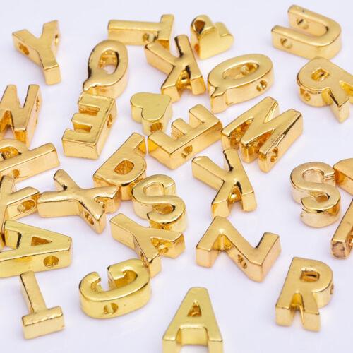 Rosebeading Gold Alloy Letter Pendant Metal letter Custom Name Necklace 10pcs