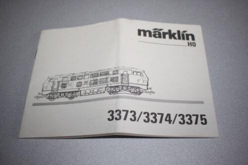 Märklin Betriebsanleitung Diesellok 3373//3374//3375  Baureihe 216 Spur H0
